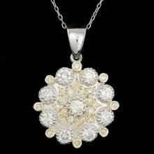 Lot 88: 14K Gold 2.07ct Diamond Pendant
