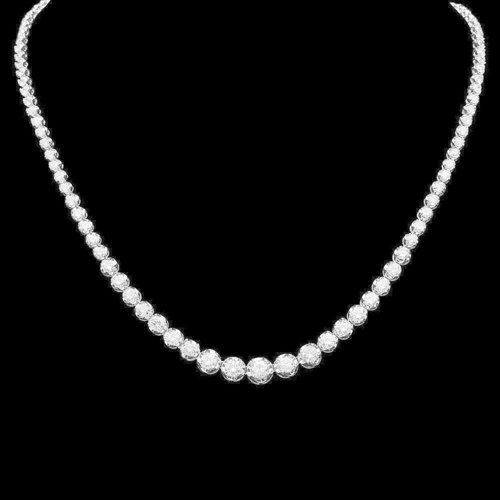 14K Gold 11.13ct Diamond Necklace