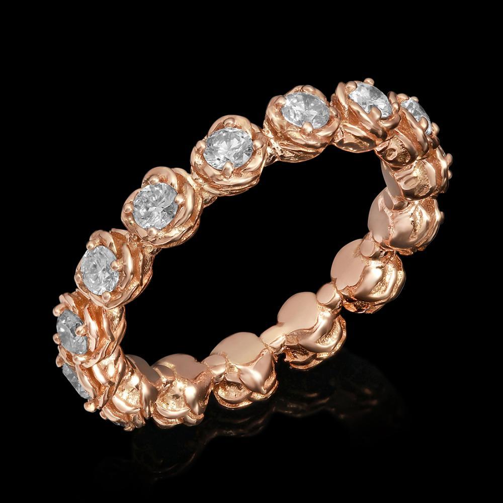 14k Rose Gold 1.11ct Diamond Ring