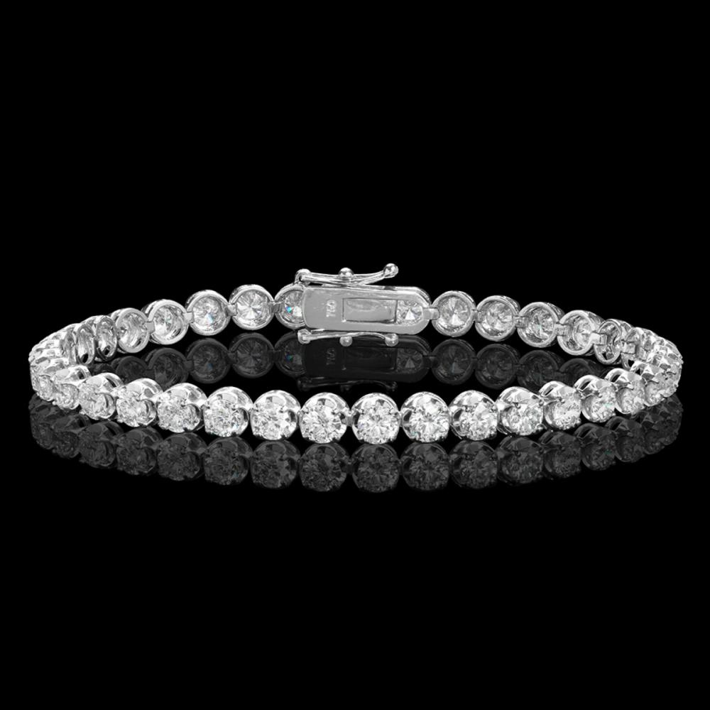 18k White Gold 7.35ct Diamond Bracelet