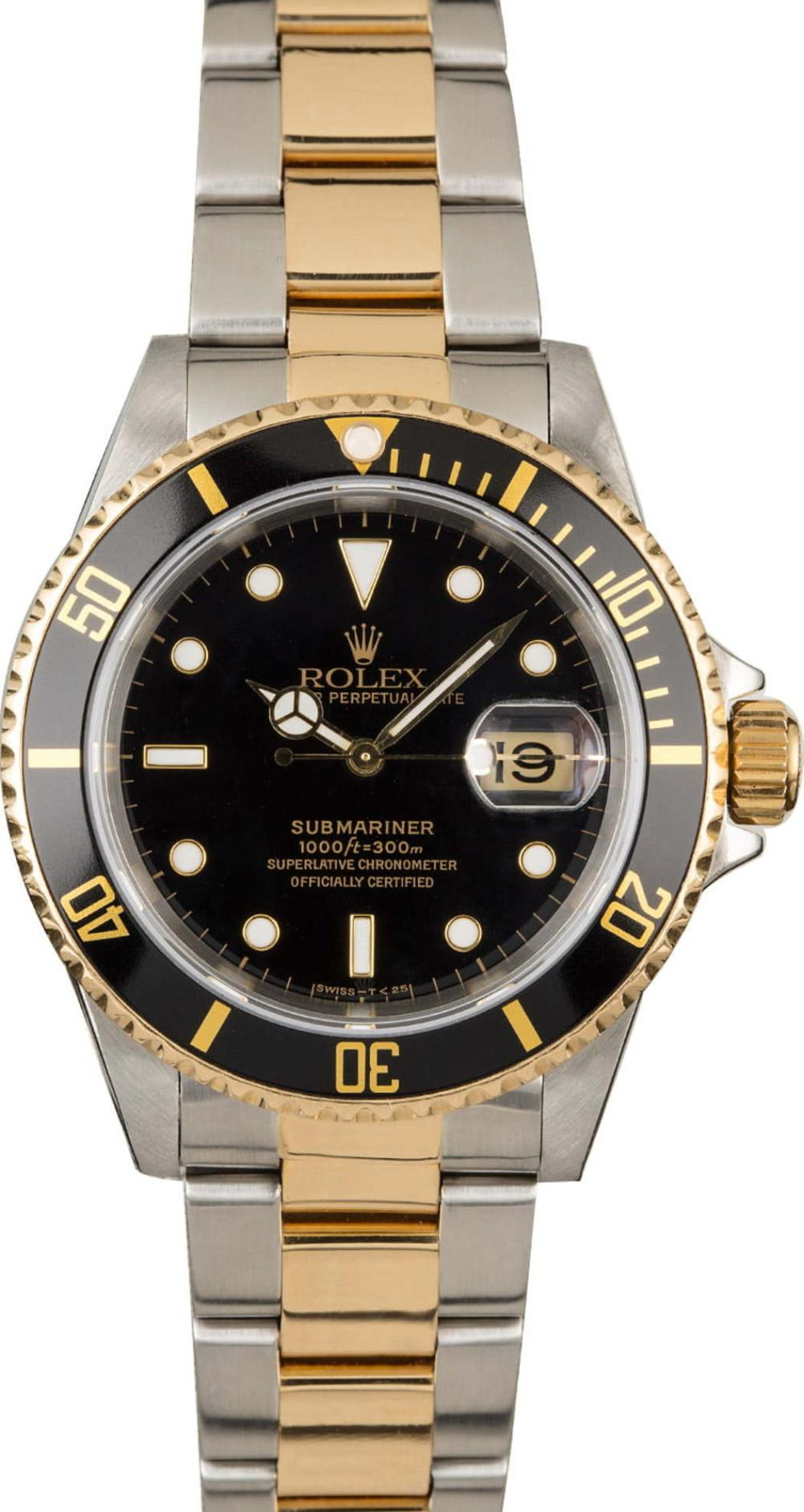 Rolex Submariner Two Tone Divers Watch