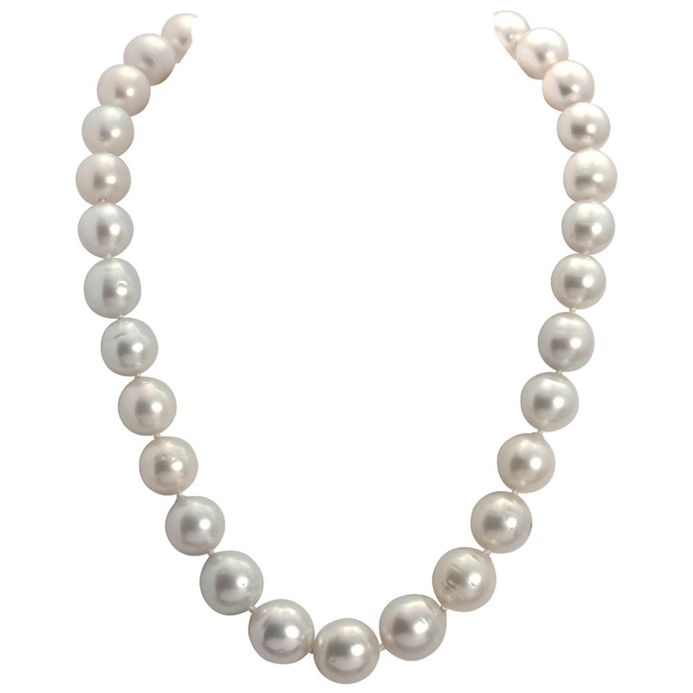 12-15.5mm Natural South Sea Pearl Necklace