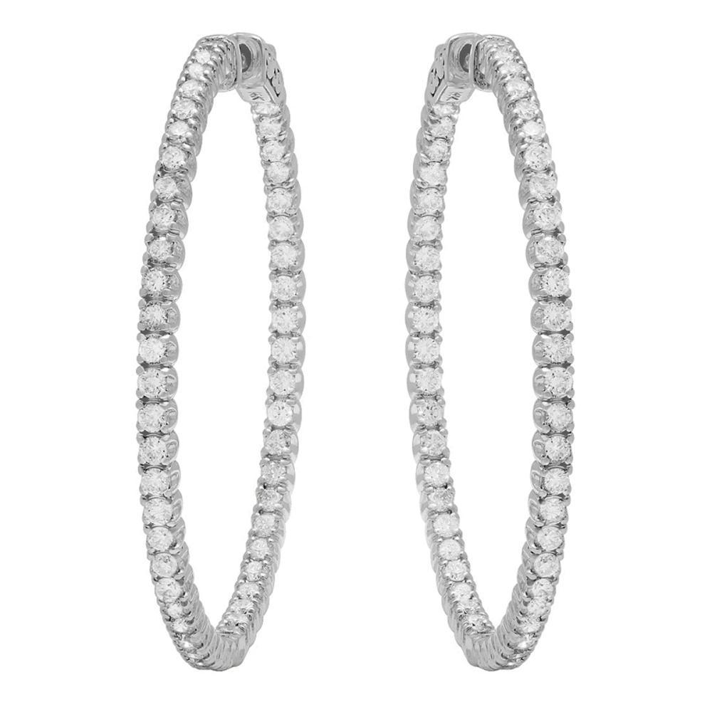 14K Gold 3.25ct Diamond Earrings