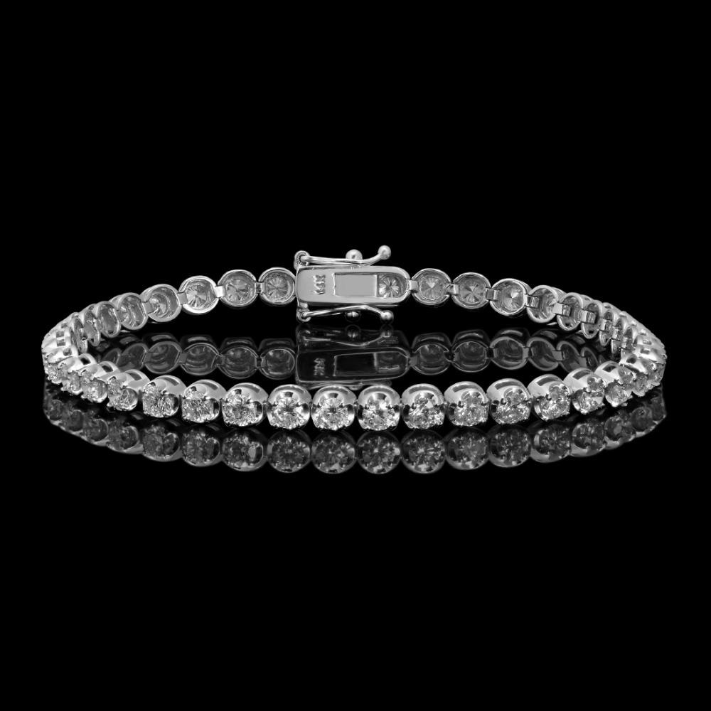 14k White Gold 5.52ct Diamond Bracelet