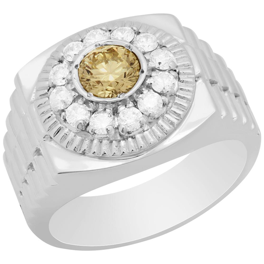 14k White Gold 0.66ct & 0.57ct Diamond Ring