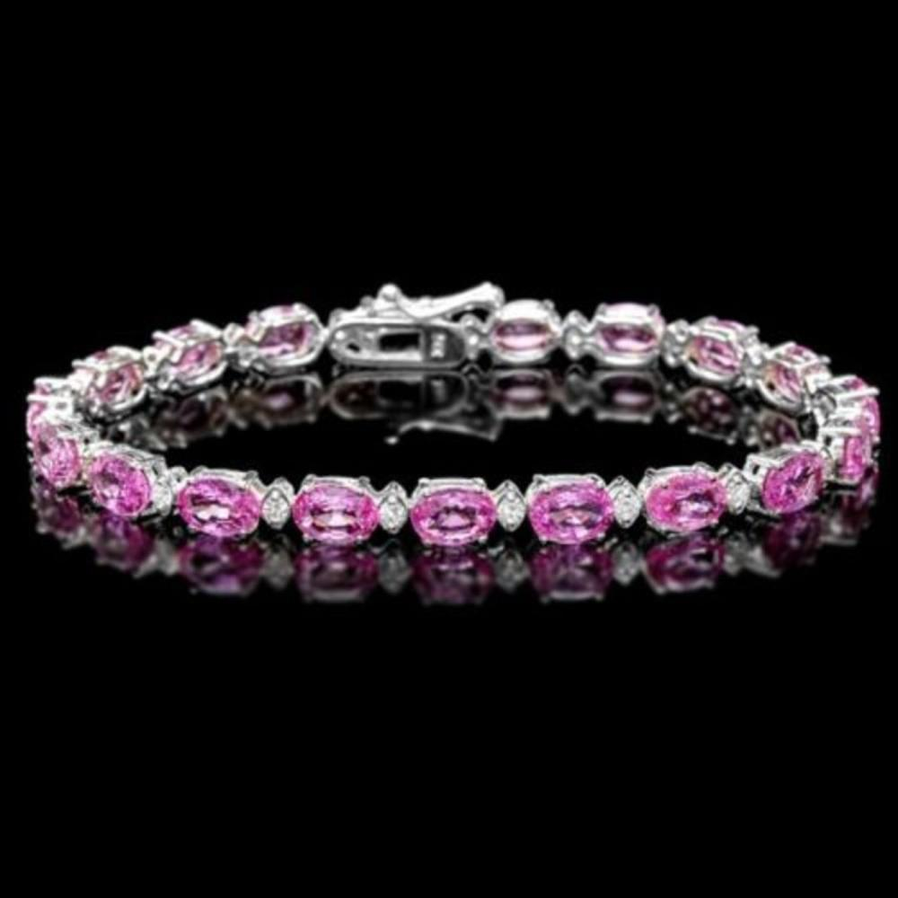 14K Gold 15.84ct Sapphire 0.66ct Diamond Bracelet