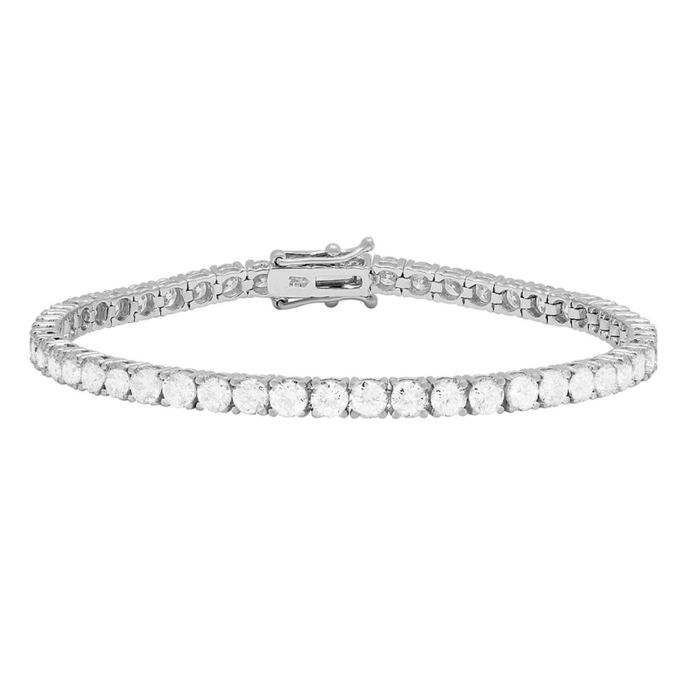 18k White Gold 7.83ct Diamond Tennis Bracelet