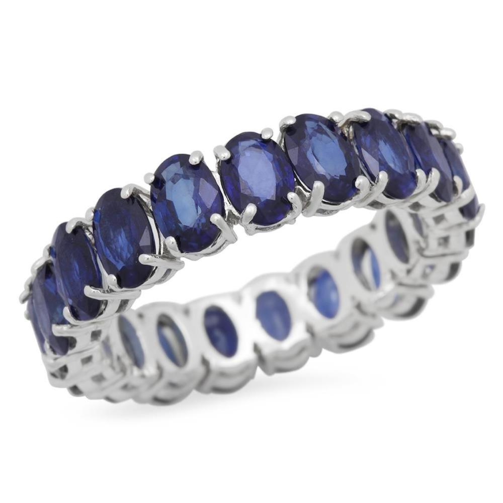 14K White Gold 9.13ct Sapphire Eternity Band