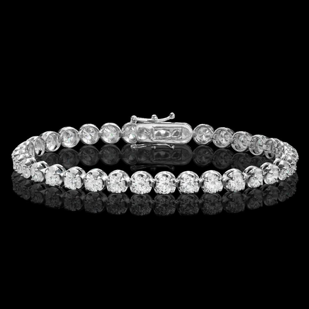 18k White Gold 6.98ct Diamond Bracelet
