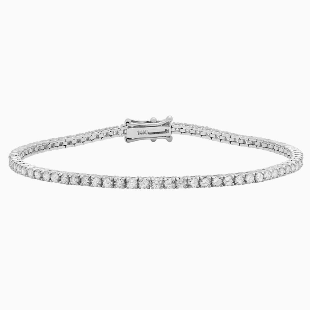 18k White Gold 3.61ct Diamond Tennis Bracelet