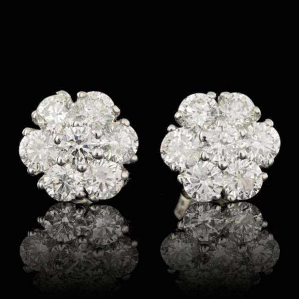 14k White Gold 2.81ct Diamond Earrings