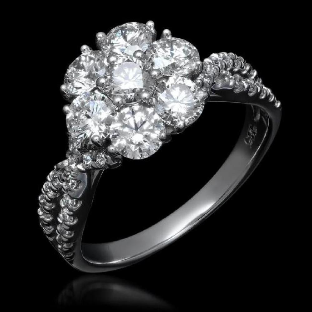 14K White Gold and 1.82ct Diamond Ring