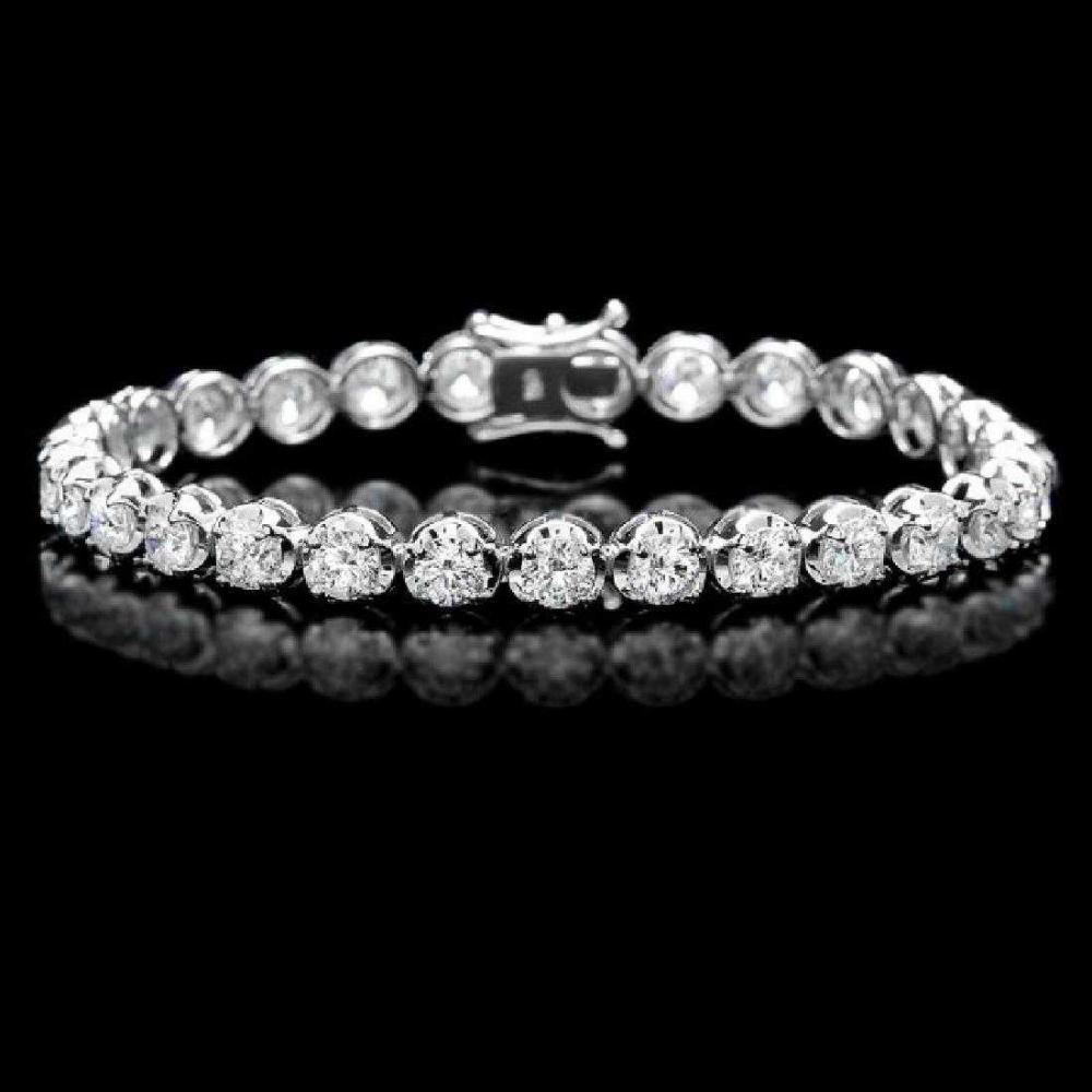 18K White Gold and 9.62ct Diamond Bracelet