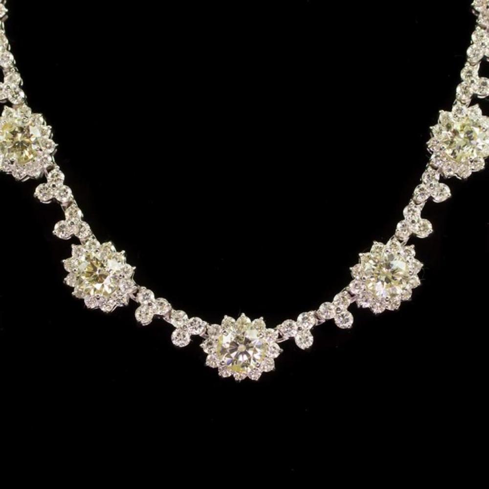 18K Gold 5.64ct Fancy Color Diamond 11.58ct Diamond Necklace