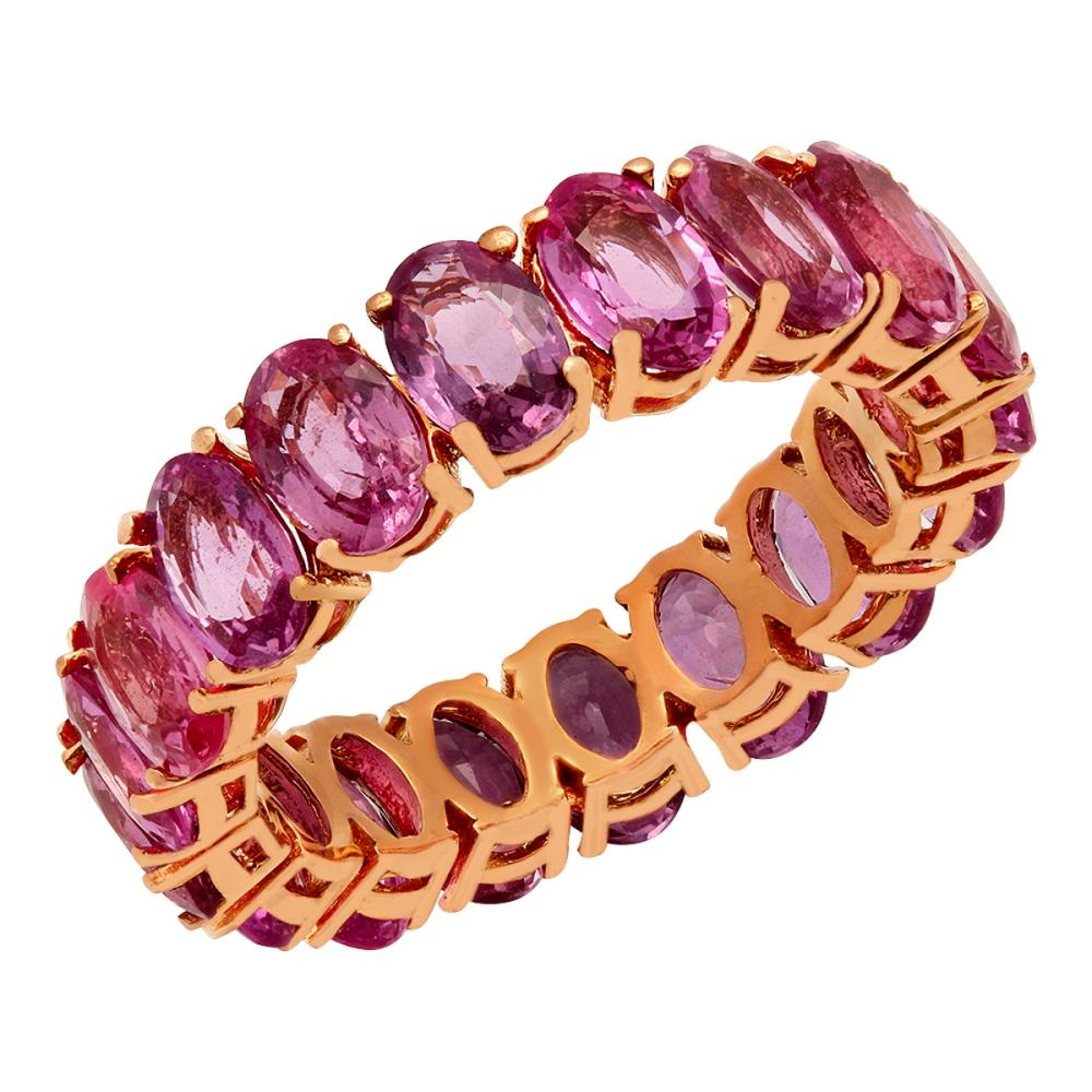 14k Rose Gold 9.98ct Pink Sapphire Eternity Band
