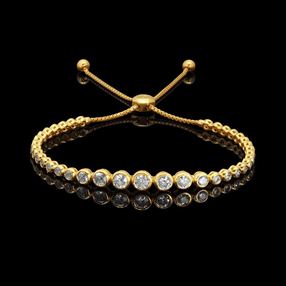 14k Yellow Gold 2.14ct Diamond Bracelet