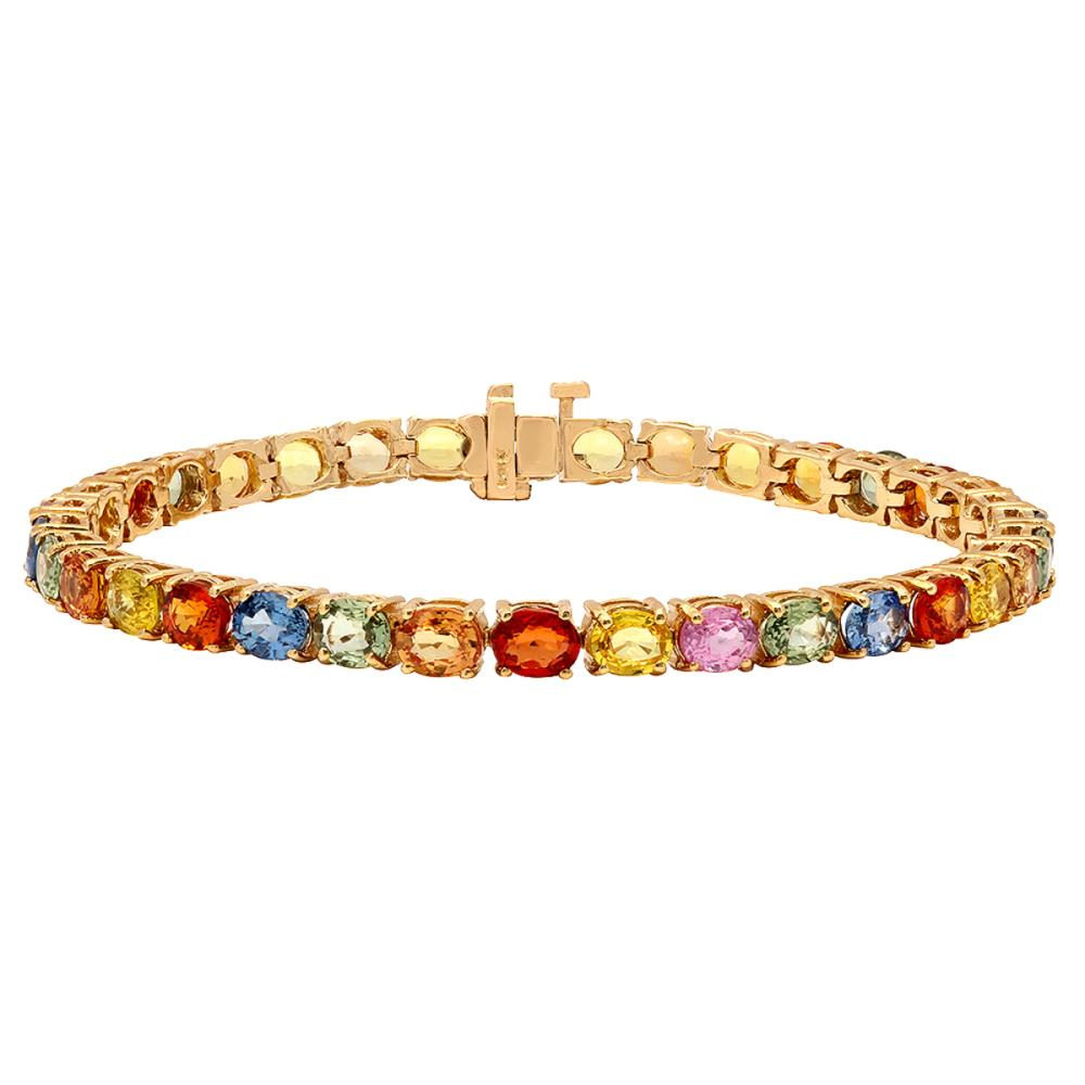 14k Yellow Gold 15.78ct Sapphire Bracelet