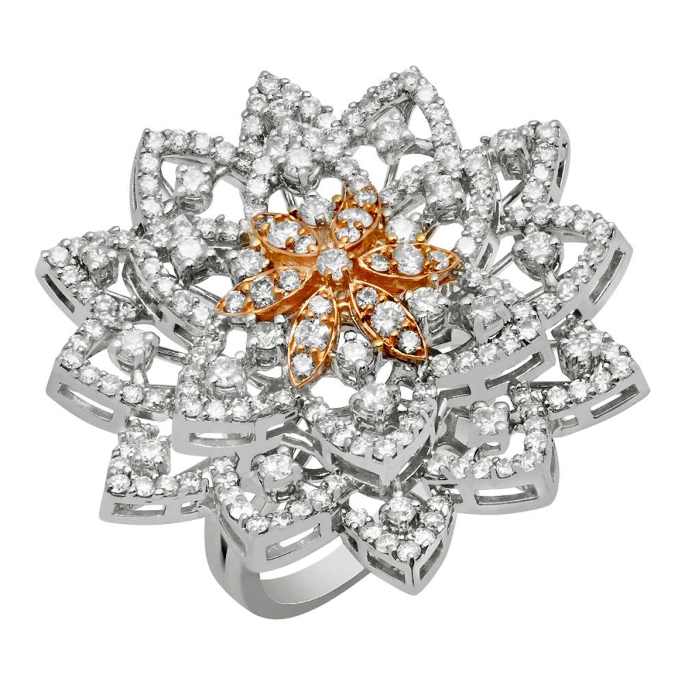 14k White Gold 3.58ct Diamond Ring