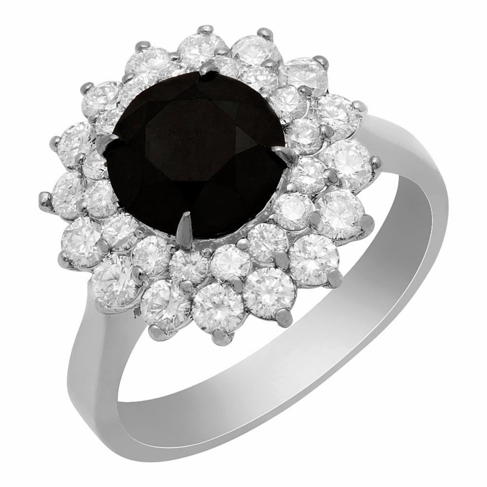 14k White Gold 1.87ct & 1.02ct Diamond Ring
