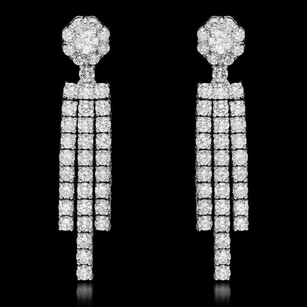 18K White Gold and 2.55ct Diamond Earrings