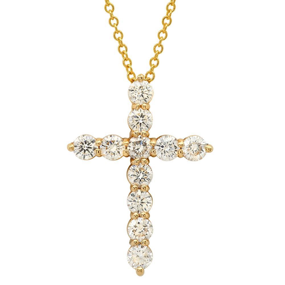 14K Yellow Gold and 1.05ct Diamond Pendant