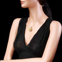 Lot 10: 14K Gold South Sea Pearl and Diamond Pendant