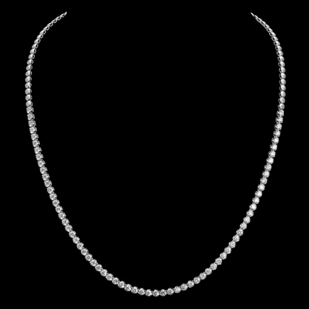 18K Gold 4.39ct Diamond Necklace