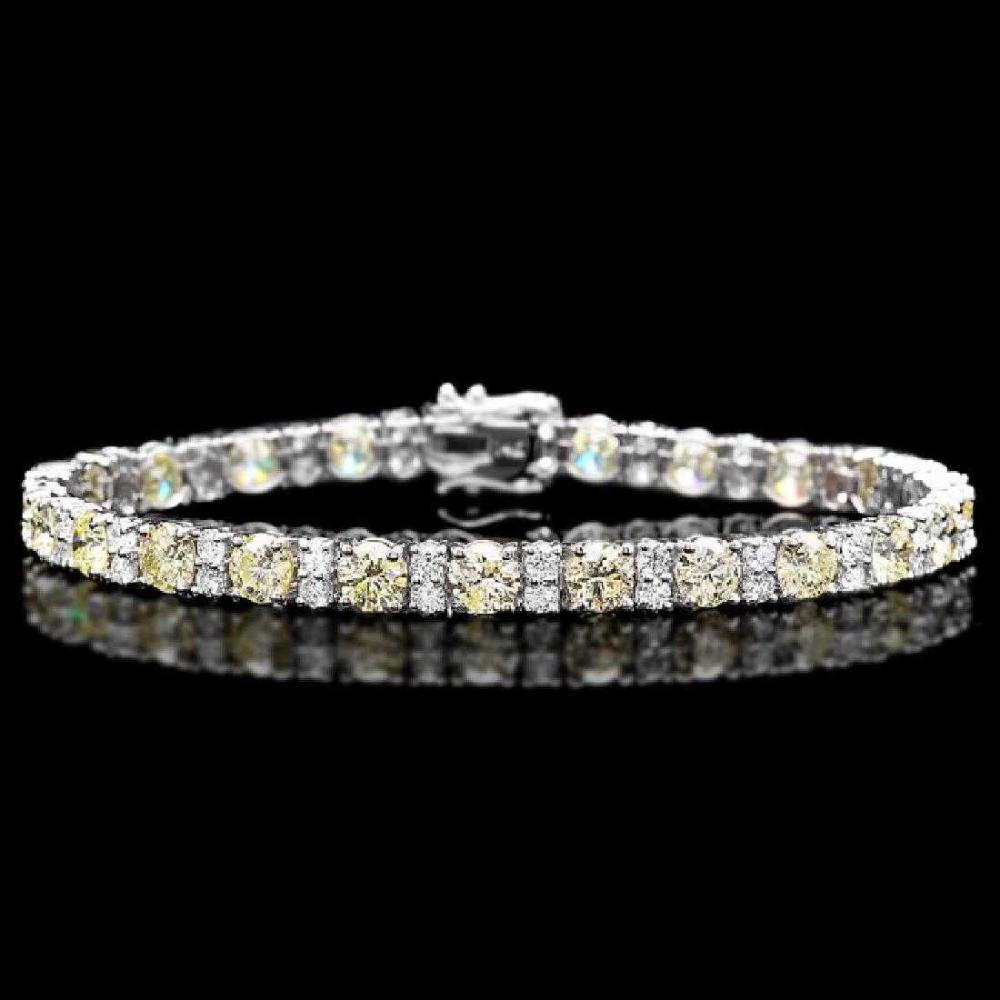 18K White Gold and 10.81ct Diamond Bracelet
