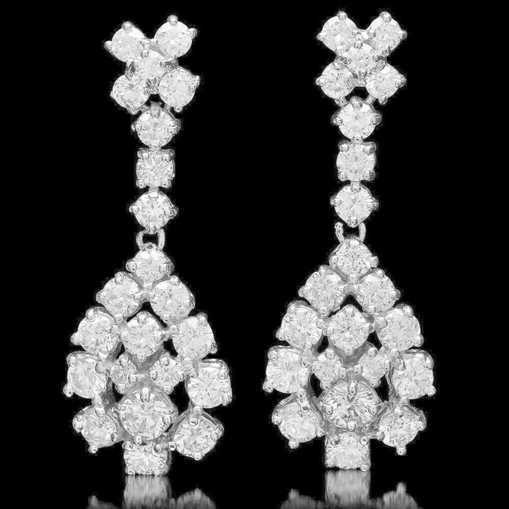 14K Gold 3.14ct Diamond Earrings