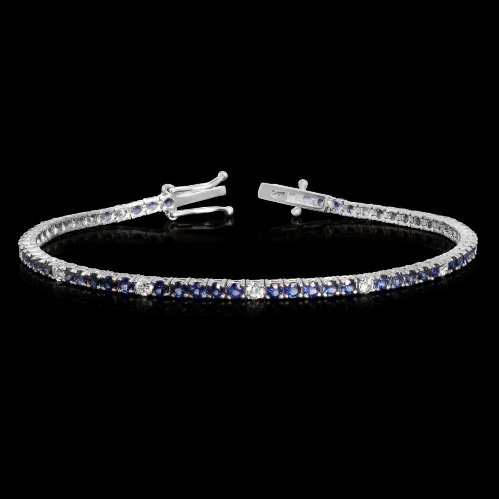 14k White Gold 3.99ct Ruby 0.88ct Diamond Bracelet