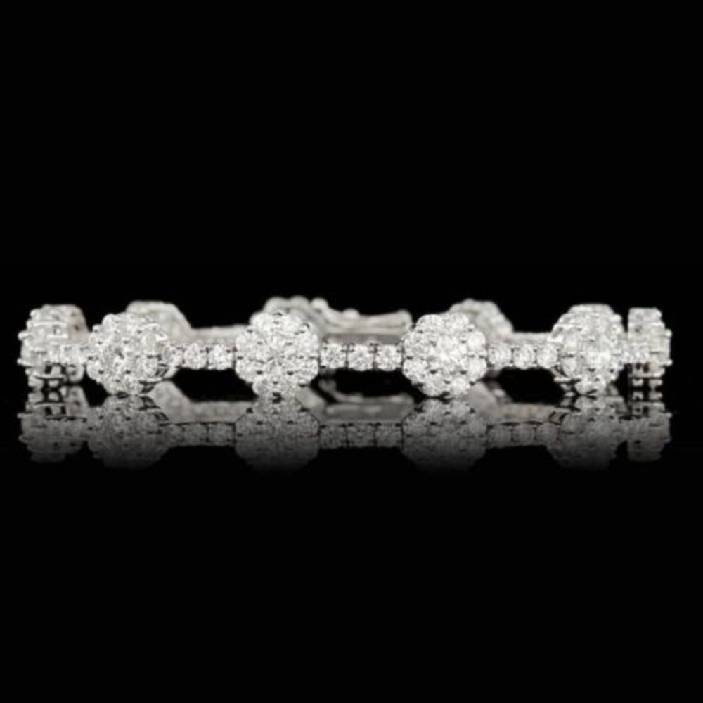 18k White Gold 9.38ct Diamond Bracelet