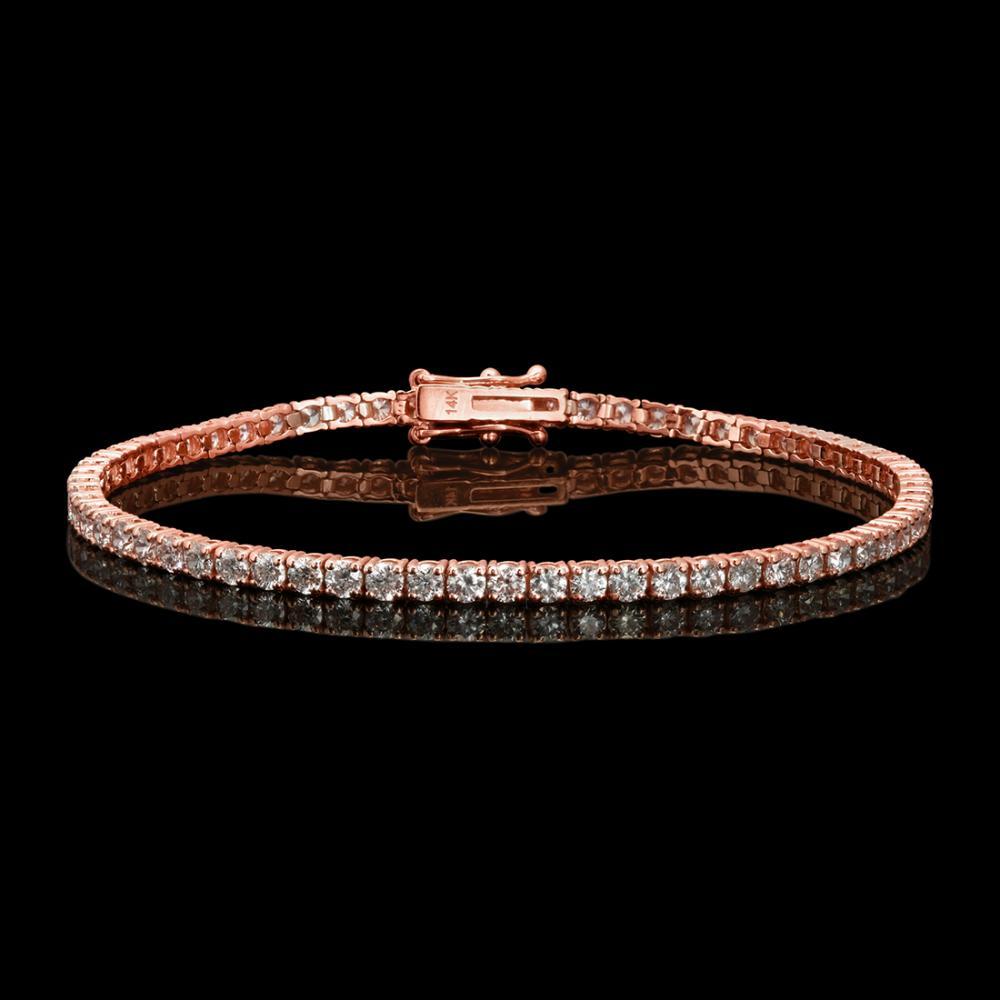 14k Rose Gold 4.84ct Diamond Bracelet
