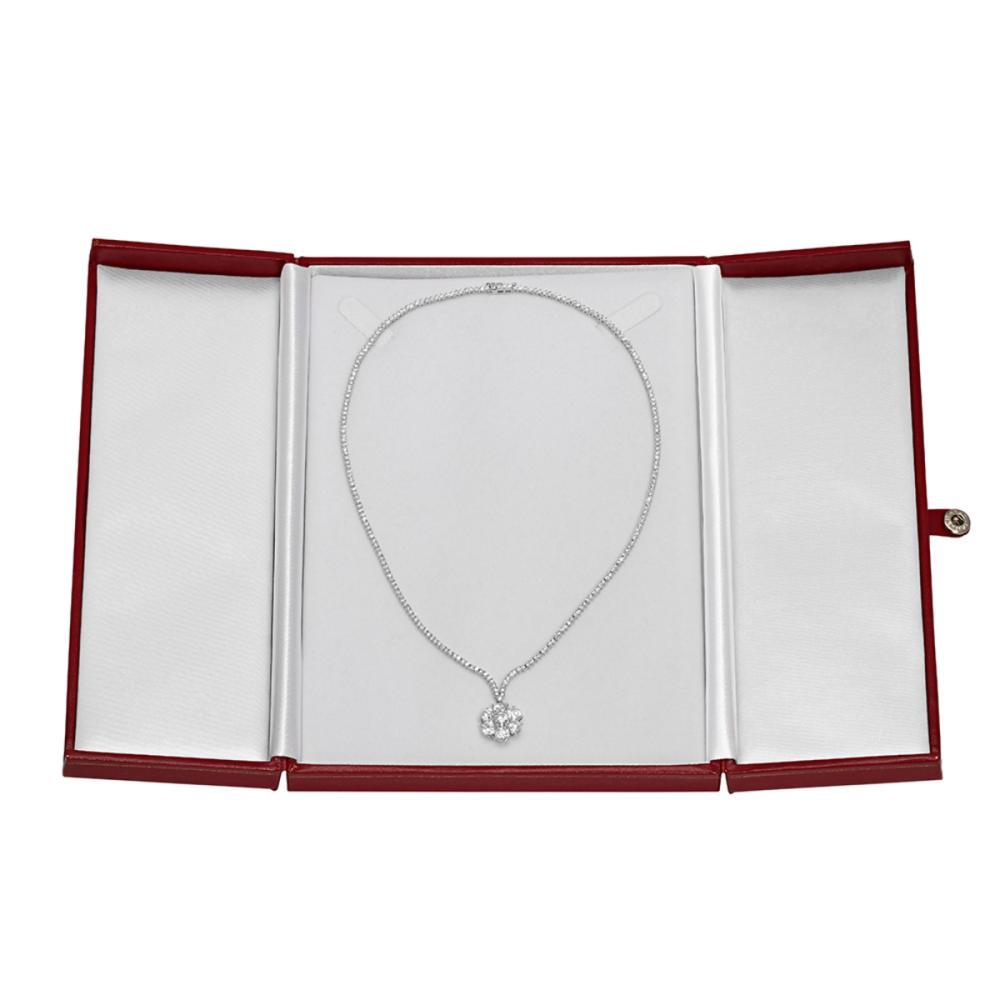 Lot 20: 14k White Gold 8.69ct Diamond Necklace