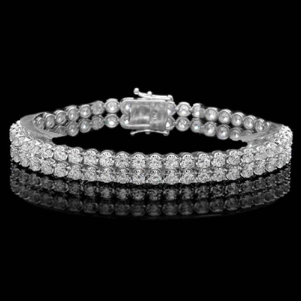 18K White Gold and 9.95ct Diamond Bracelet
