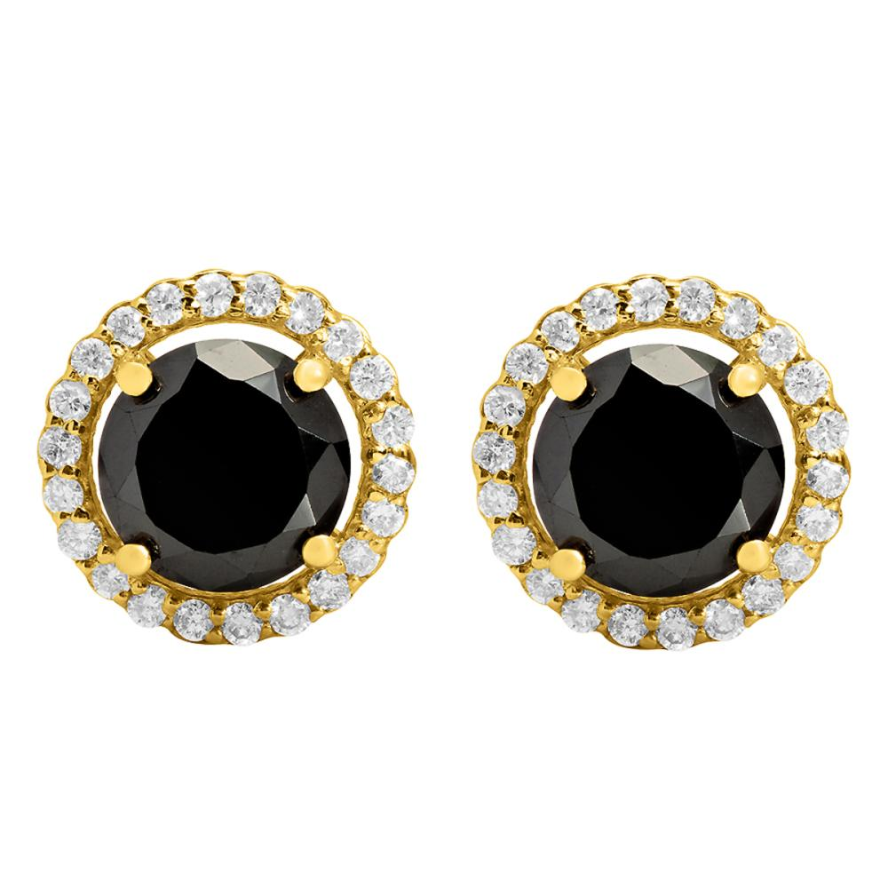 14k Yellow Gold 4.48ct & 0.75ct Diamond Earrings