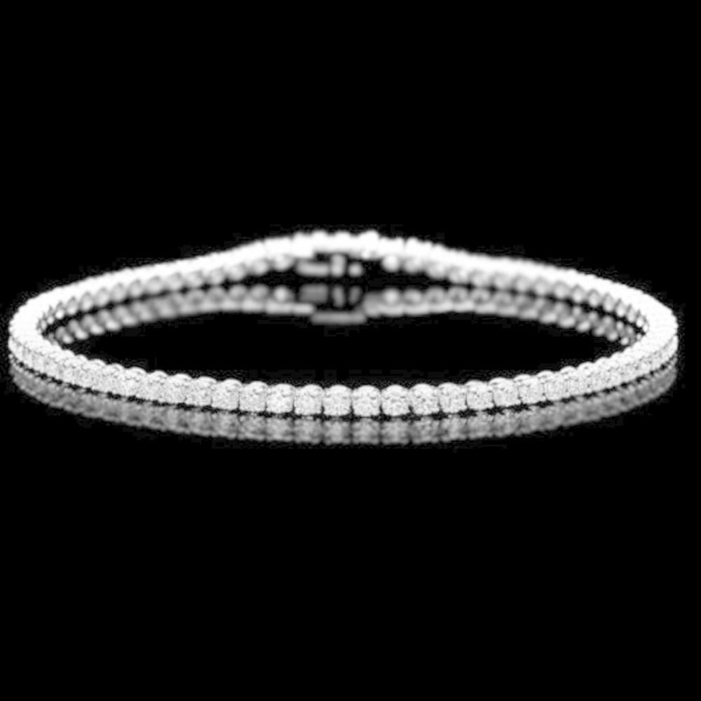 18K Gold 3.09ct Diamond Bracelet