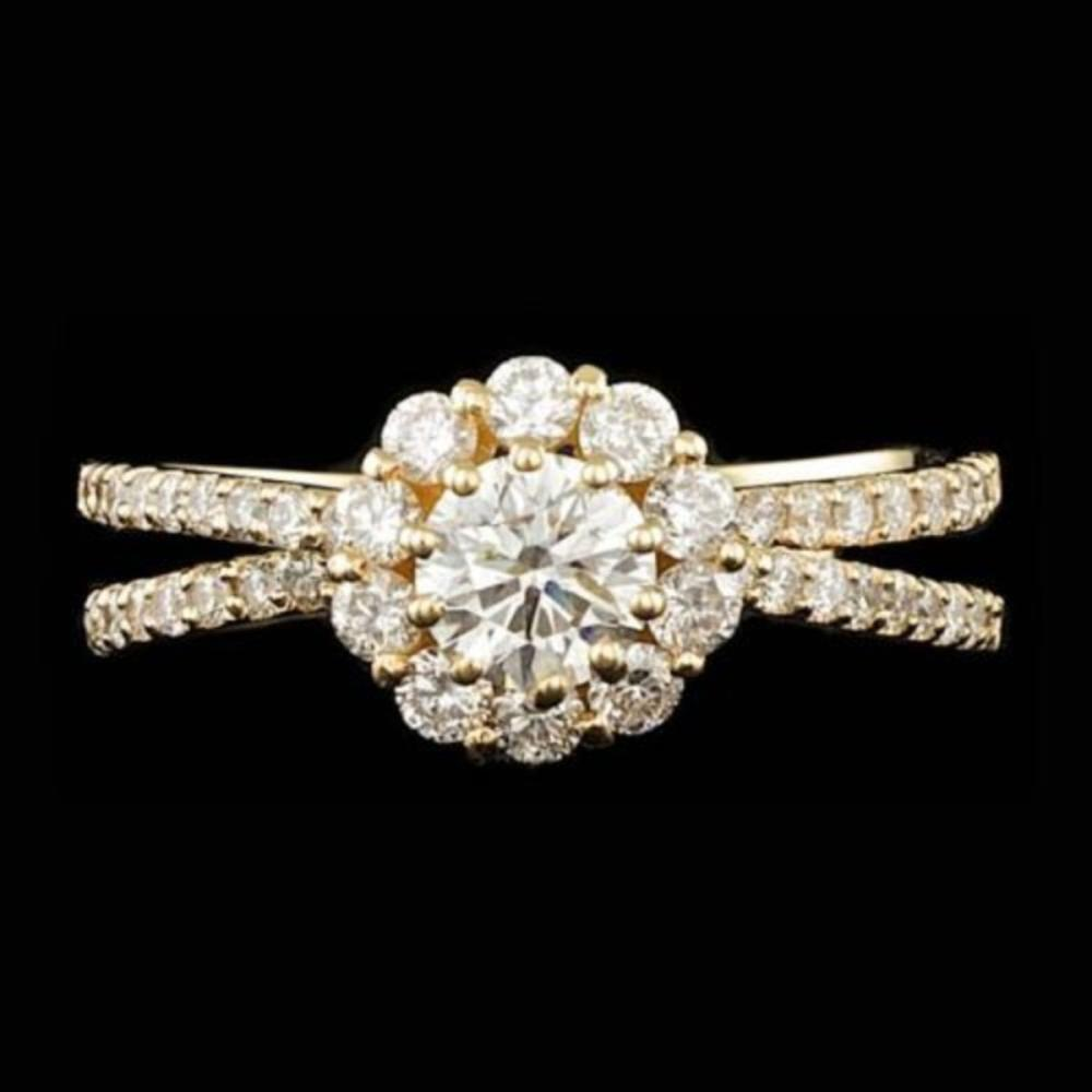 14K Yellow Gold and 0.82tcw Diamond Ring