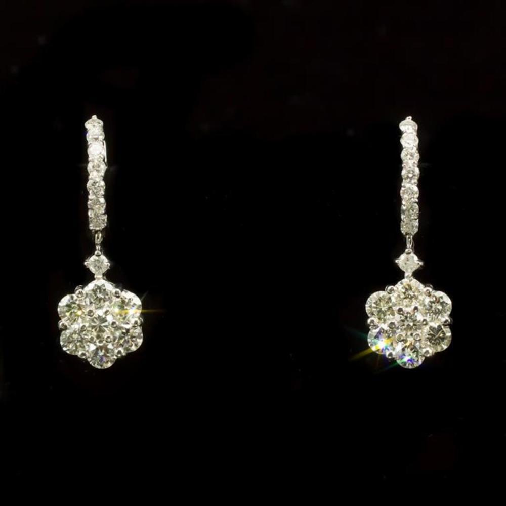 14k Gold 3.19ct Diamond Earrings