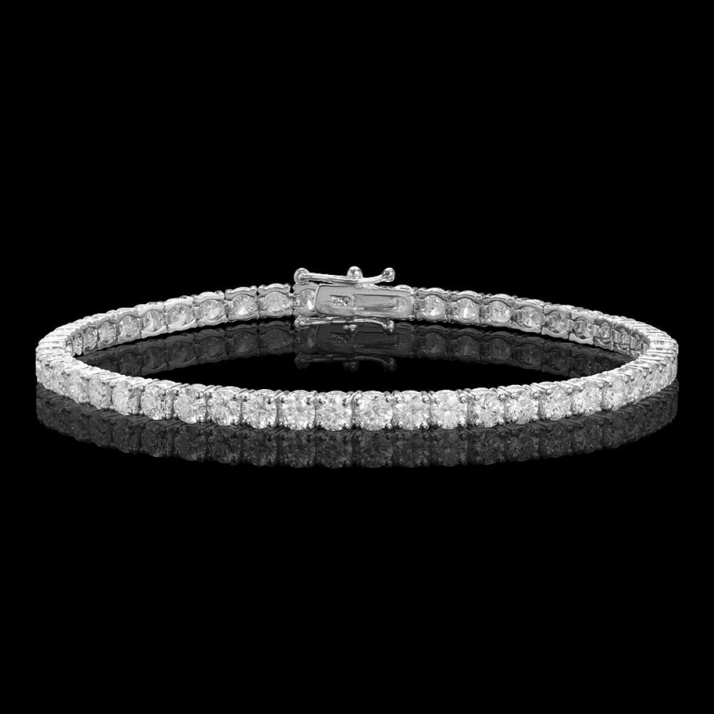 18k White Gold 8.11ct Diamond Bracelet