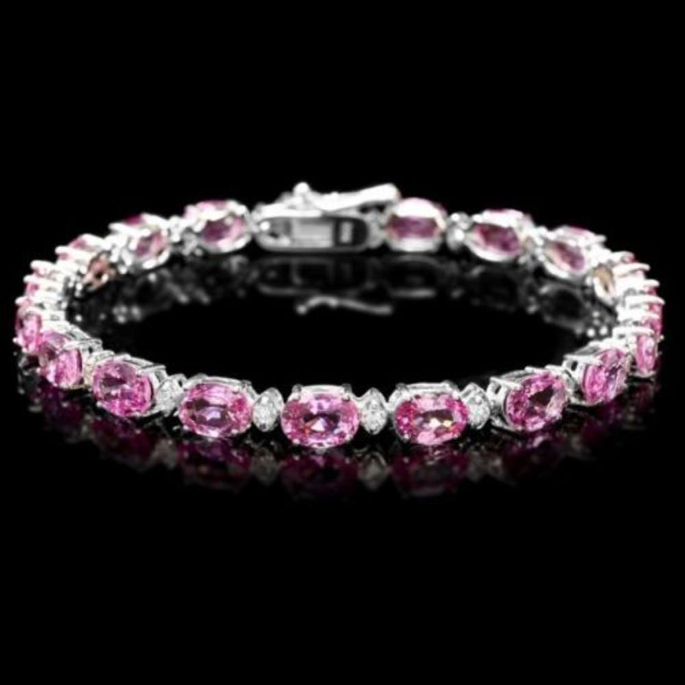 14K Gold 16.61ct Sapphire 0.69ct Diamond Bracelet