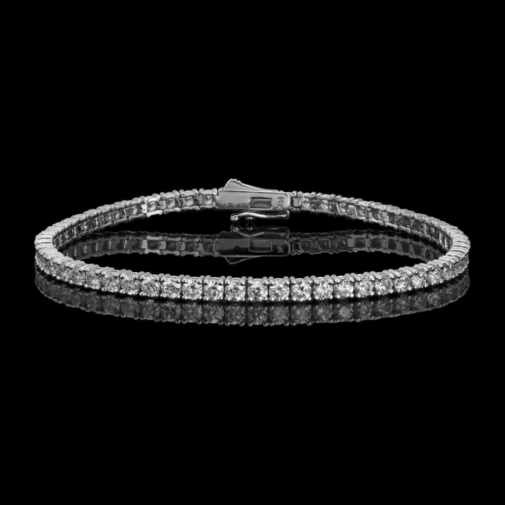 14k White Gold 5.57ct Diamond Bracelet