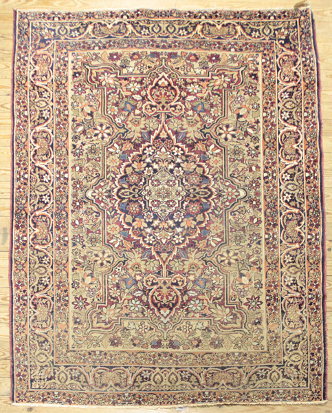 Antique Oriental Throw Rug, Old Busy Floral Pattern Rug In T