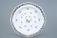 An impressive large Brussels faience dish in the style of Rouen 18th C., Di