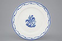 A Tournai porcelain plate with Saint-Georges fighting the dragon 18th C., D