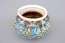 A polychrome relief-decorated basin Winterthur Switzerland 16th C., H.: 2