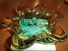 Vintage Italian Murano Glass Ashtray, early 1960s.