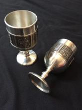 Norwegian Konge Tinn Viking Pewter Cordial Cups