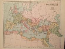 Late 19th/ Early 20thc Roman Empire Atlas Map