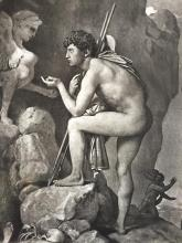 1880's Photogravure Print, Oedipus And The Sphinx