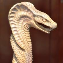 Carved Antler Cobra Snake Can Handle